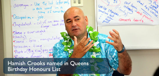 Hamish Crooks named in Queens Birthday Honours